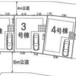 新築一戸建て 川越市下松原 区画図(間取)